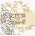 beautiful invitation greeting card with flowers vector image vector image