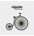 bicycle hipster style isolated icon vector image vector image