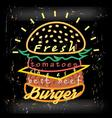 Bright cover for fast food menu hamburger vector image vector image