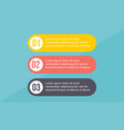 business infographic step concept style vector image