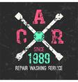 Car service wheel brace emblem vector image vector image