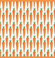 carrot vegetables seamless pattern on white vector image
