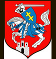 coat of arms of siedlce city in masovian vector image vector image