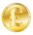 Coin pound sterling vector image