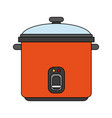 color image cartoon rice electric cooker vector image vector image