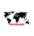 coronavirus spread infection on world map vector image vector image