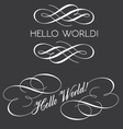 Decorative texts with swirls vector image vector image