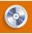disc icon on orange background Eps10 vector image vector image