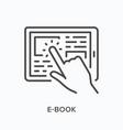 e-book line icon outline vector image