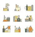 Factory Buildings vector image
