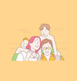 family travel together childhood concept vector image vector image