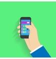 Flat design style Choosing on smartphone vector image