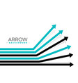 forward moving arrows background design vector image vector image