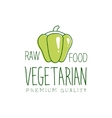 Fresh Vegan Food Promotional Sign With Sweet vector image vector image