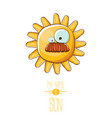 funky cartoon style summer sun character vector image