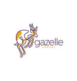 gazelle logo icon line art outline monoline vector image