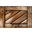 Grunge wooden box background vector image vector image