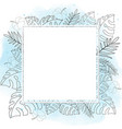 hand drawn summer tropical flower botanical vector image