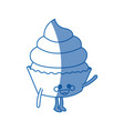 kawaii cupcake party celebration happy icon vector image vector image