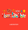 laboratory concept vector image vector image