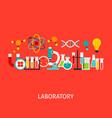 laboratory concept vector image vector image
