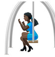 makeup on a swing vector image
