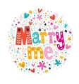 Marry me retro typography lettering decorative vector image vector image