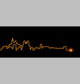 marseille light streak skyline vector image