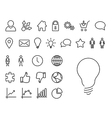 Modern thin line icon set vector image