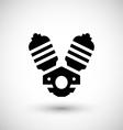 Motorcycle motor icon vector image vector image