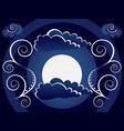 mystic moon background vector image