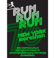 New York marathon run poster vector image vector image