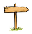 old wooden direction sign vector image vector image