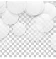 Paper circle banner vector image vector image