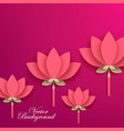 paper flower red lotus cut from paper wedding vector image vector image