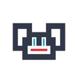 pixel ape sign vector image