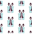 Present pattern Cute paper print with gift vector image vector image