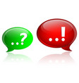 question and answer marks on speech bubbles vector image