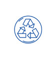 recycling line icon concept recycling flat vector image