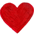 Red flat brush painted heart vector image vector image