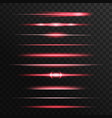 red light flashes glow lines glowing rays vector image