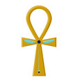 Religious sign of the ancient egyptian cross vector image