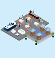 restaurant service isometric composition vector image vector image
