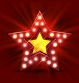 retro light sign star finest hour vector image