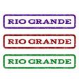 rio grande watermark stamp vector image