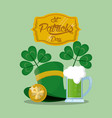 saint patrick days card vector image