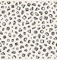 scattered geometric shapes inspired by memphis vector image vector image