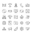 security alert doodle icons vector image vector image