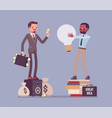 selling the idea vector image