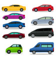 set of different types and models of cars vector image vector image